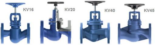 Вентили фланцевые KV16, KV20, KV40, KV45